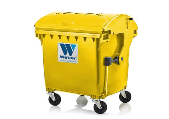 Buitiniu-atlieku-konteineris-1100l-talpos-geltonos-spalvos-apvaliu-dangciu-su-papildomu dangteliu