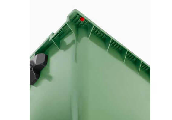 Buitiniu-atlieku-konteineris-1100l-zalios-spalvos-apvaliu-dangciu-su-papildomu-dangteliu-2