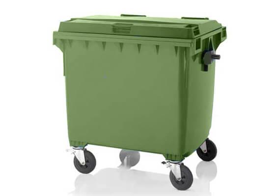 Buitiniu-atlieku-konteineris-1100l-zalios-spalvos-ploksciu-dangciu