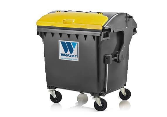 Buitniu-atlieku-konteineris-1100l-talpos-juodos spalvos-apvaliu-dangciu-su-papildomu-dangteliu